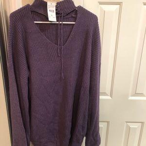 Choker sweater tunic